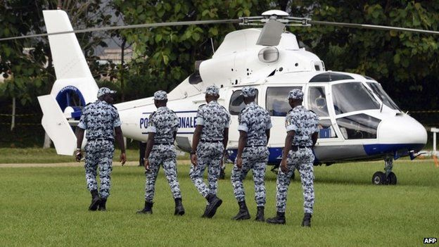 Ivorian police officers