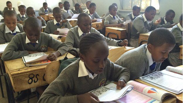 Students at Hospital Hill Primary School in the Kenya's capital, Nairobi