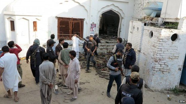 Pakistan mosque bombing aftermath