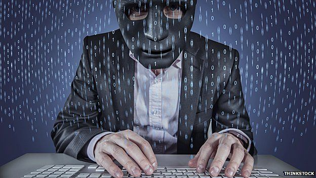 Hacker in a mask