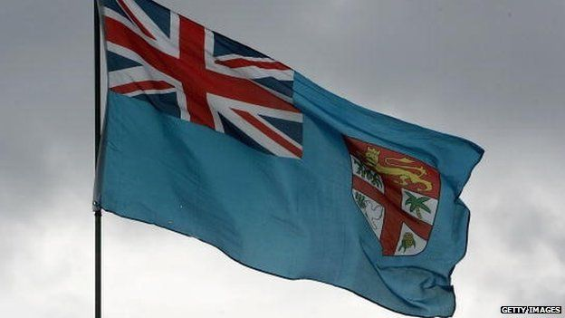 The Fijian flag is pictured on December 7, 2006 in Suva, Fiji