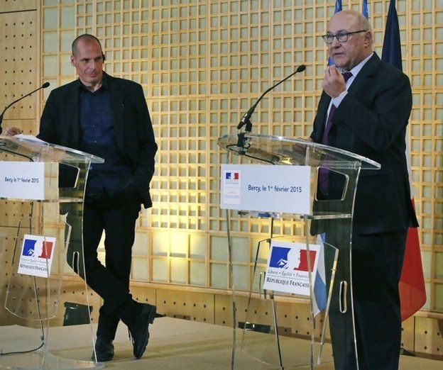 Varoufakis and France's Michel Sapin