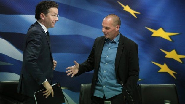 Jeroen Dijsselbloem and Varoufakis