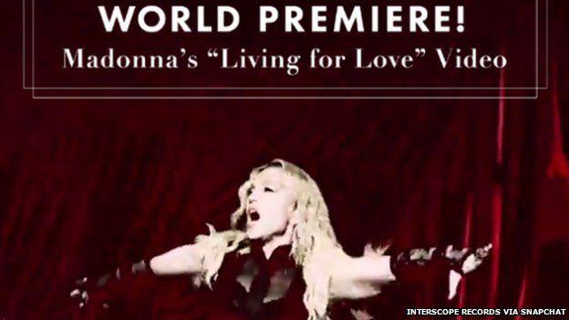 Madonna on Snapchat