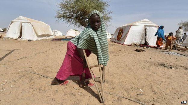 File photo: A young Nigerian refugee who fled an attack by Boko Haram militants in the town of Baga at a camp in Baga Sola, 26 January 2015