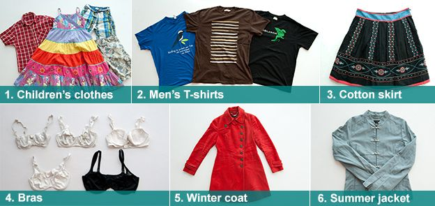 Selection of second-hand clothing