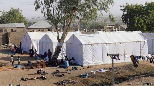 Tents in a refugee camp in Nigeria