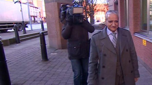 Jawaid Ishaq arrives at court
