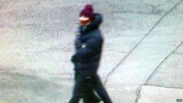 This handout photo released by Danish Police and taken from a surveillance video CCTV shows a man suspected to be involved in a shooting attack at a cultural centre in Copenhagen, Denmark, where shots were fired during a debate on Islam and free speech on February 14, 2015