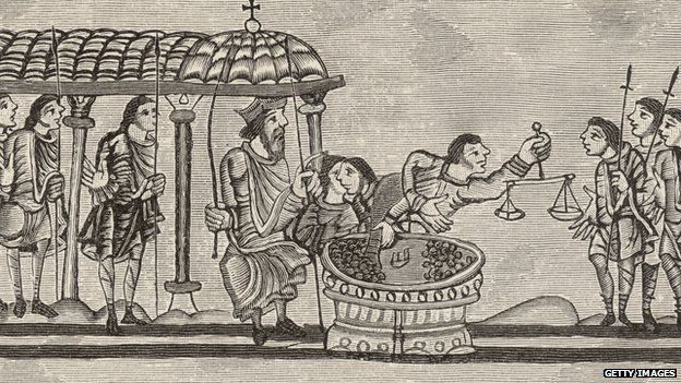 Medieval tax collecting