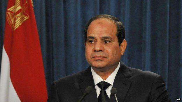 Egyptian President Abdel Fattah al-Sisi - 16 February