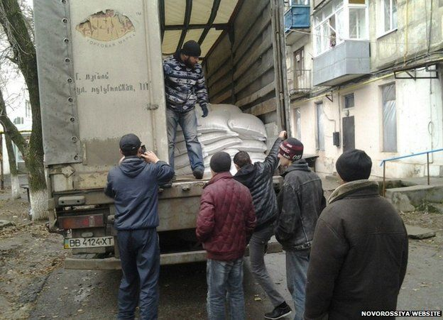 Novorossiya aid delivery (from movement's website)