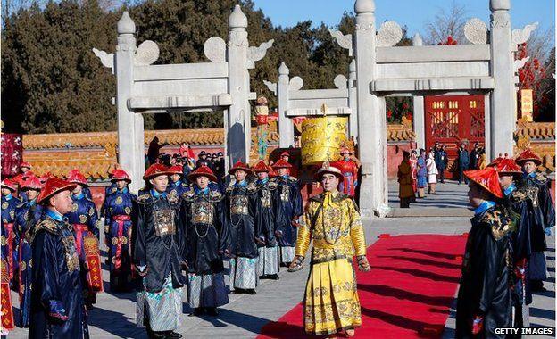 Ceremony at Temple of Heaven, Beijing (18 Feb 2015)