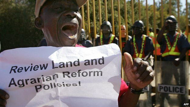 File image, protest by Landless People of Gauteng, an NGO fighting for a change in land laws