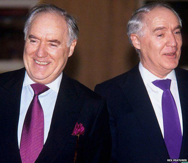 Sir Frederick (L) and Sir David Barclay (R)
