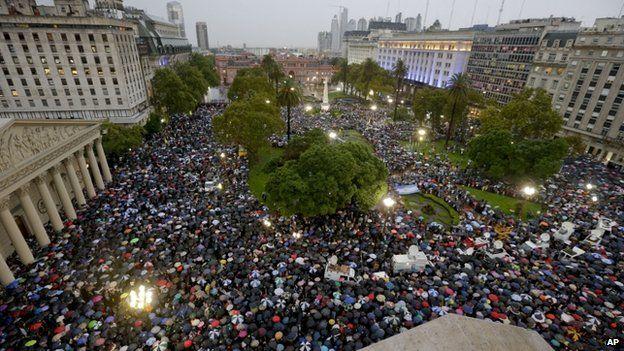 Nisman protest in Buenos Aires, Plaza de Mayo