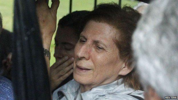 Sara Garfunkel, mother of Alberto Nisman, at the march