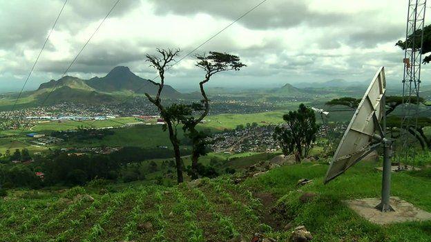 A satellite dish in Malawi