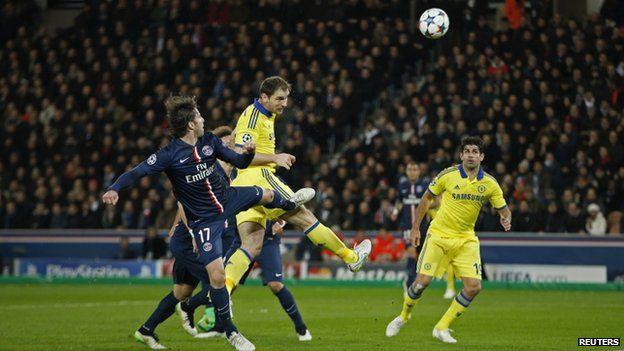 Chelsea drew 1-1 with Paris St Germain