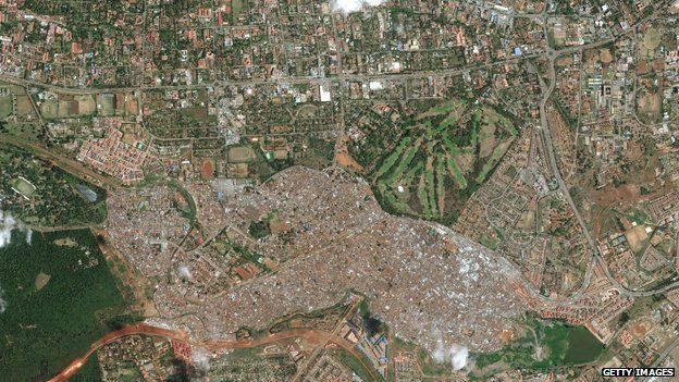 Satellite photo of Kibera (One use only - do not reuse)