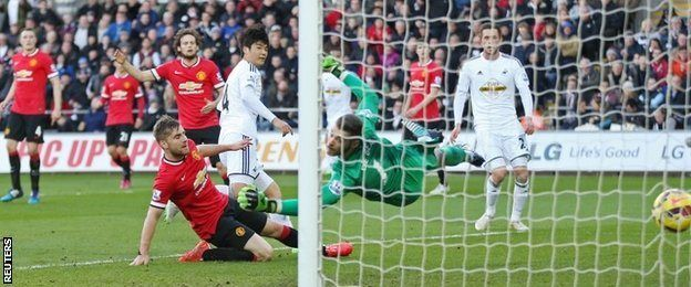 Ki Sung-yueng roi'r bel yng nghefn rhwyd Manchester United