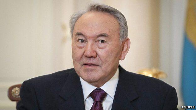 Kazakhstan President Nursultan Nazarbayev in February 2013