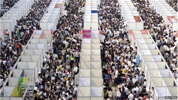 Job fair in Chongching, China (Jan 2015)