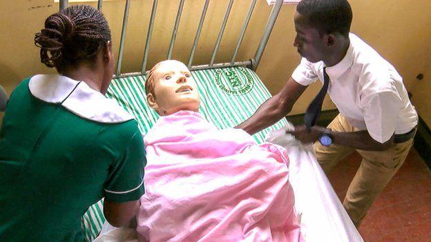 Trainee nurses in Ghana