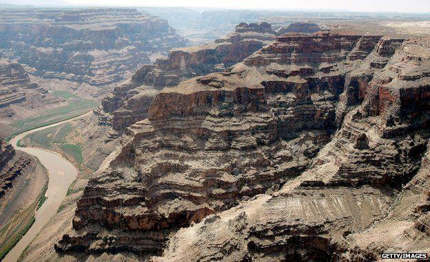 Grand Canyon aerial shot
