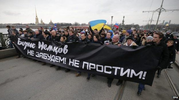Rally in St Petersburg, 1 March