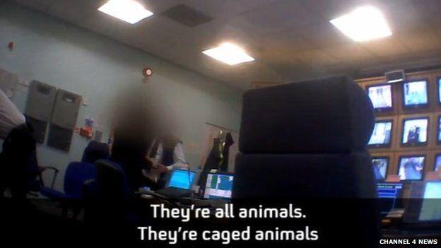 Secretly filmed footage by Channel 4 News inside Yarl's Wood