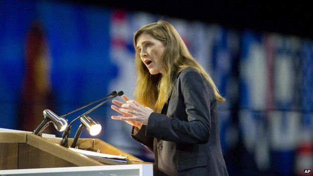 US United Nations Ambassador Samantha Power speaks at the American Israel Public Affairs Committee (AIPAC) Policy Conference in Washington 2 March 2015