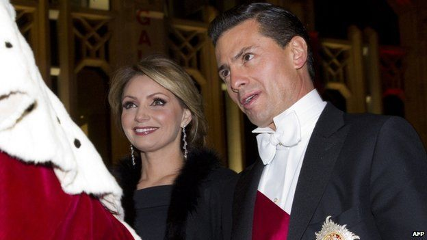 Mr Nieto and Angelica Rivera