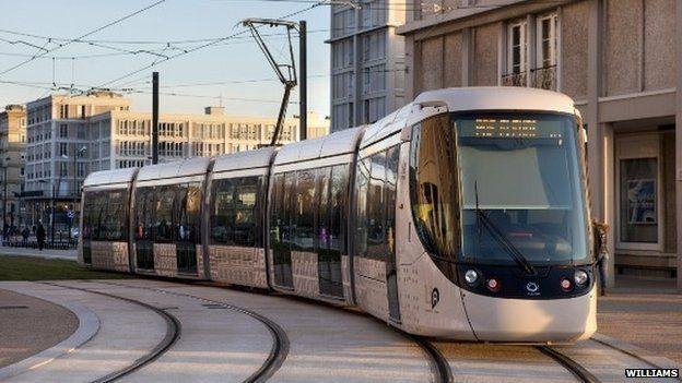 Alstom electric tram