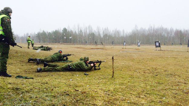 Target practice for Lithuanian troops