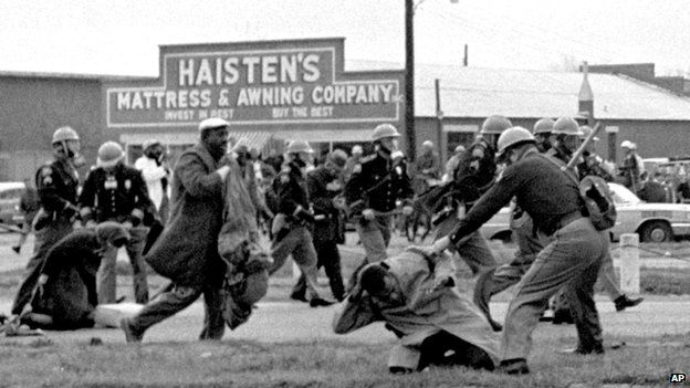 State police use clubs against participants of a civil rights march in Selma, Alabama - 7 March 1965