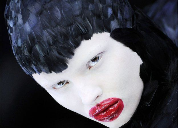 Alexander McQueen duck feather headdress