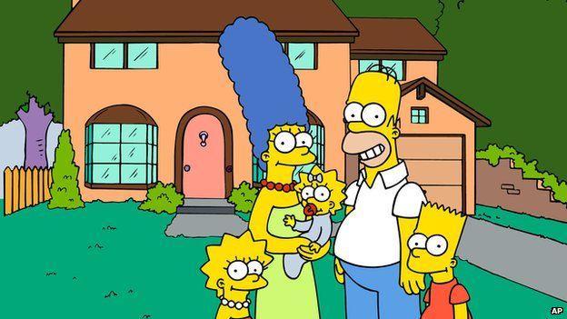 The Simpson family (cartoon characters)
