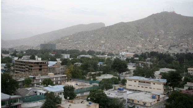 General view of rooftops and skyline of Kabul from 2008