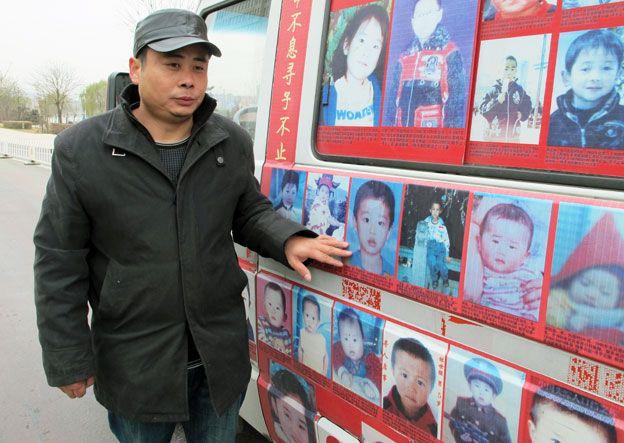 Xiao with van showing stolen children