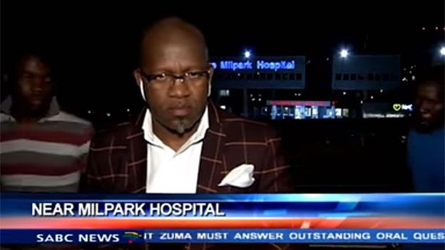 Screengrab of the mugging of a South African TV crew in Johannesburg