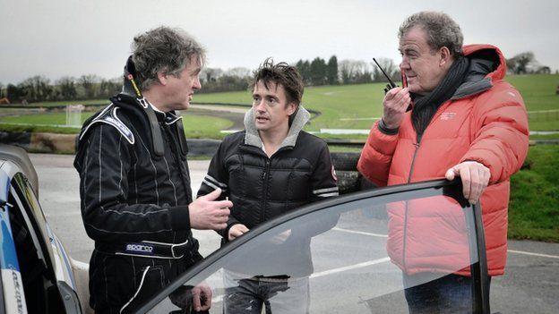 James May, Richard Hammond an Jeremy Clarkson