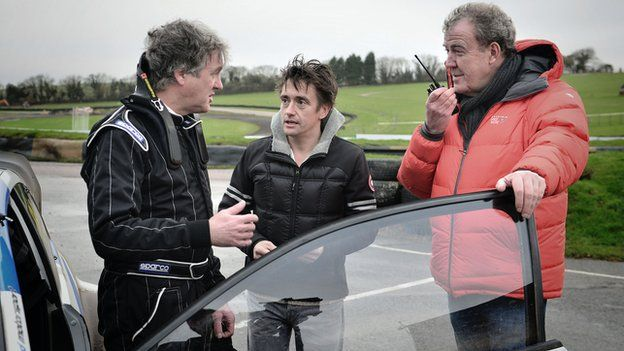 Top Gear is presented by James May, Richard Hammond and Jeremy Clarkson