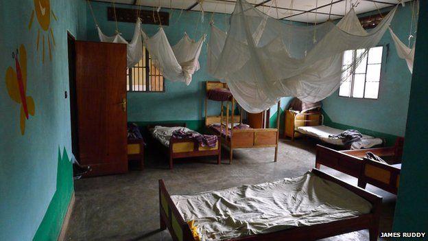 An orphanage dormitory in Rwanda