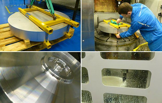 Wheel machining