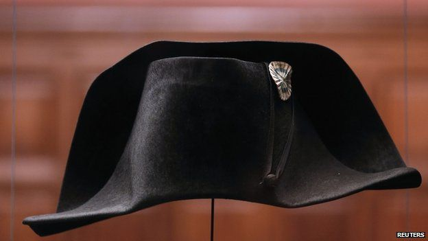 Hat worn by Napoleon at Waterloo on display in Burgundy (10 March)
