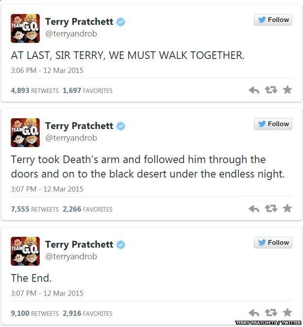Terry Pratchett tweets