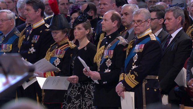 Members of the Royal Family at St Paul's Cathedral