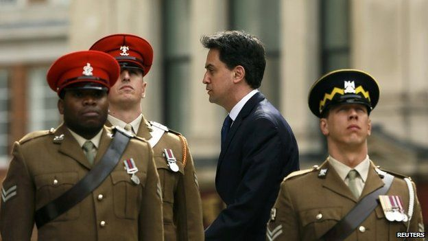 Labour Party leader Ed Miliband arrives for the Afghanistan service of commemoration at St Paul's Cathedral in London