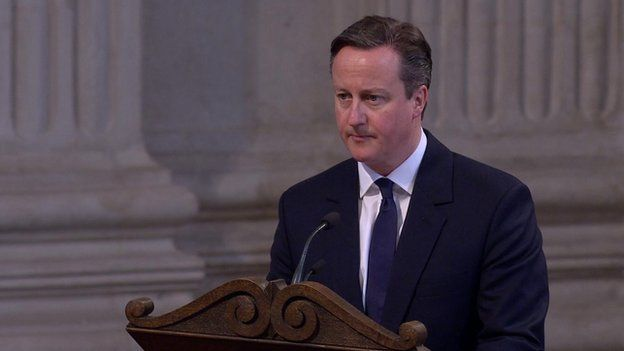 David Cameron speaks at the Afghanistan commemoration service